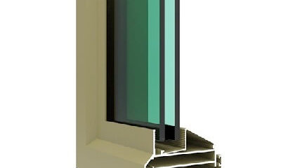 Casement window aluminum profile